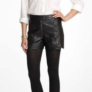 Anthropologie Scalloped Brocade Shorts 198.00 New